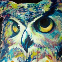 Big Boy Hoots 30x40- SOLD
