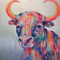 Ole the Bull 36x36