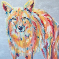 Prairie Wolf 24x30