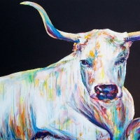 Reclining Bovine Lilly 36x48- SOLD