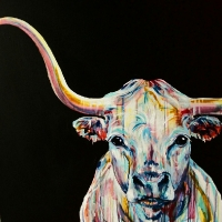 Sonny the Longhorn 30x30