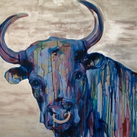 Sweet Bully 30x40- SOLD